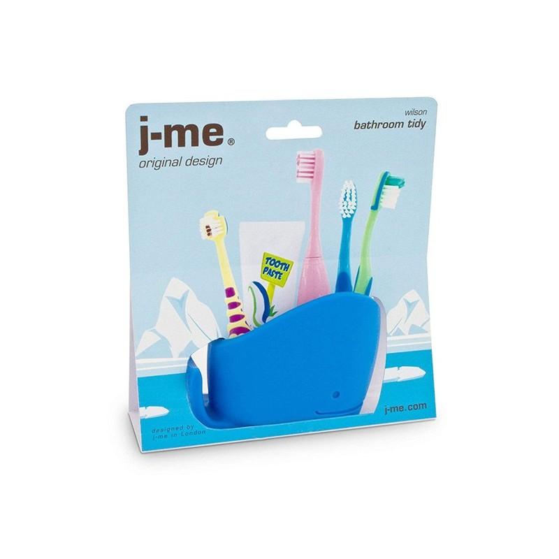 Soporte para cepillos de dientes de silicona para ni/ños azul. Cuasting Whale cepillo de dientes de ba/ño pasta de dientes