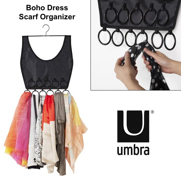 Boho Dress Scarf hanger organizer