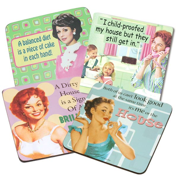 Coasters with retro style - Housewife