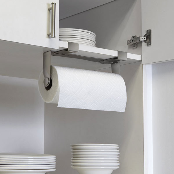 Mountie Paper Towel Holder mounted on kitchen cabinet
