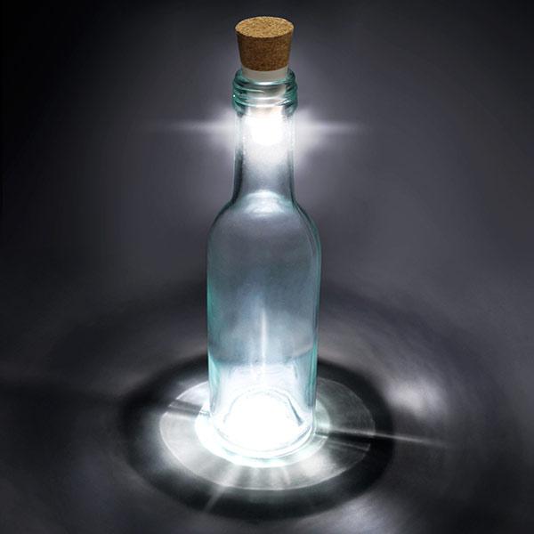 LED light cork for turning bottles into lamps