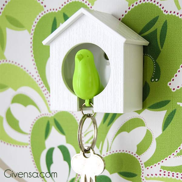 Sparrow Keyring with house