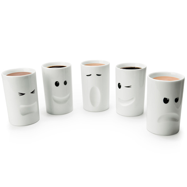 Funny Mugs with facial expressions