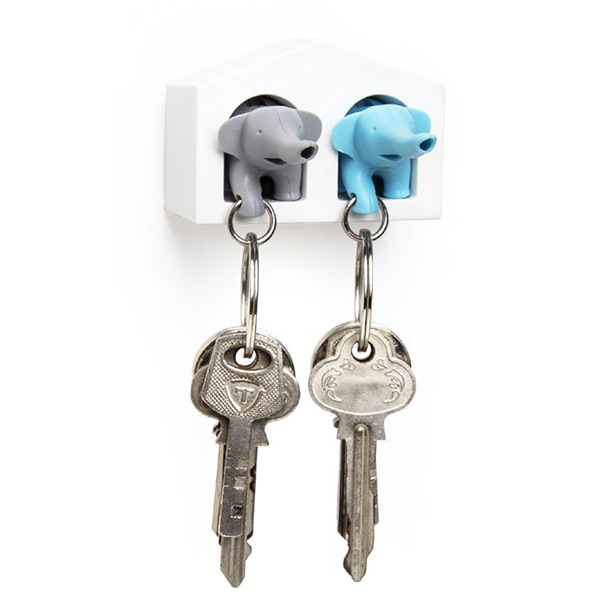 Original key holder and key ring - Elephants