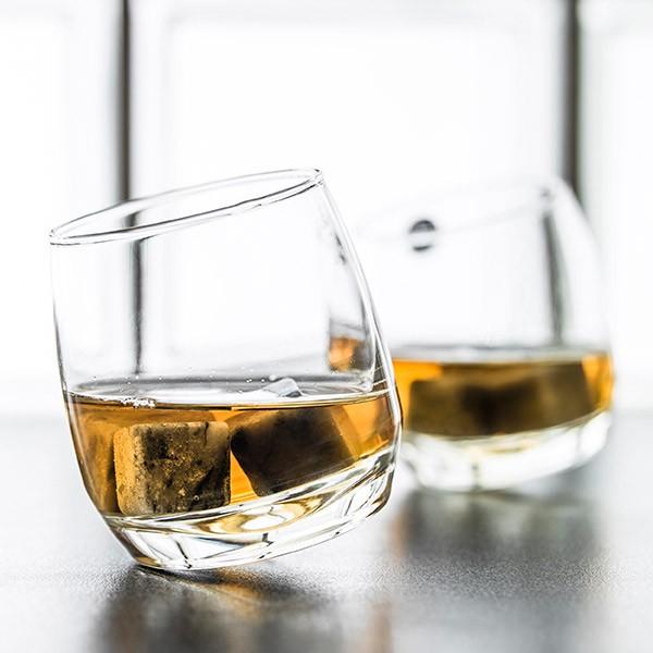 Vasos de whisky con base redonda