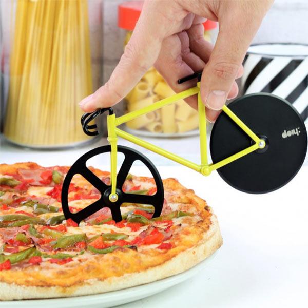 Cortador de pizza en forma de bicicleta - Fixie