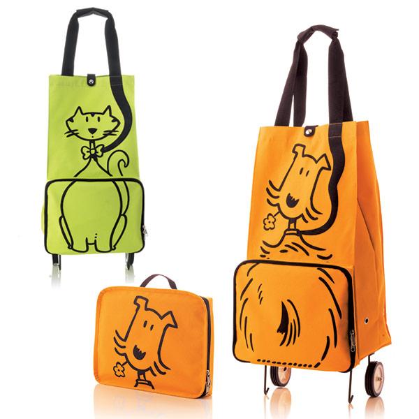 Carro de compra plegable - Perro y Gato