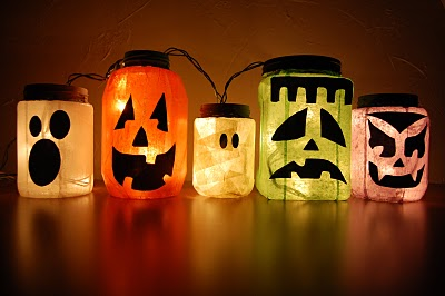 Halloween jar lights