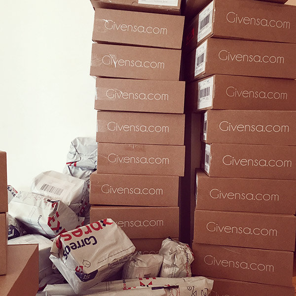 Givensa shipping boxes